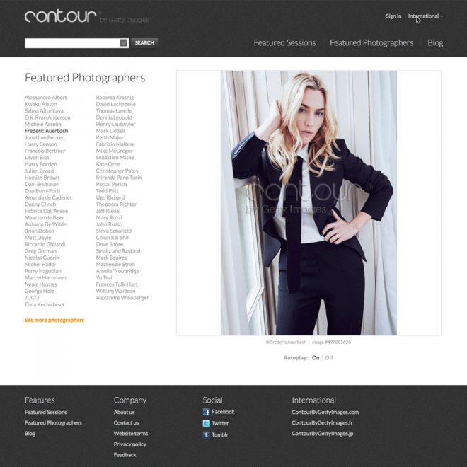 Getty Contour Photographers