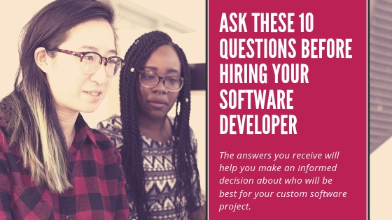 Questions to ask a software developer